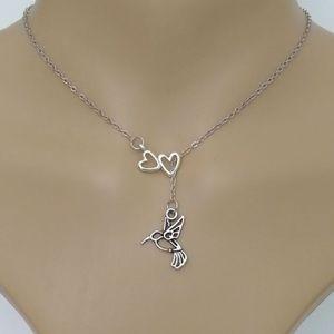 🎀New list!🎀 Infinity Love hummingbird necklace